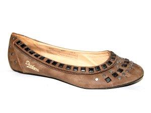Dockers Mary Jane Ballerinas light brown leather