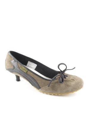 Dockers High Heels schwarz-olivgrün extravaganter Stil