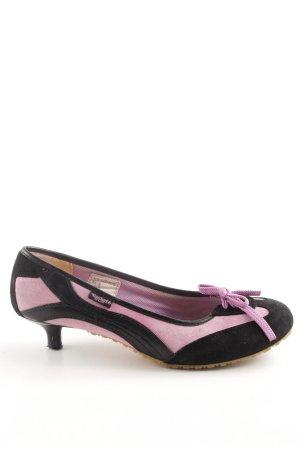 Dockers Tacones con cordones negro-rosa estilo extravagante