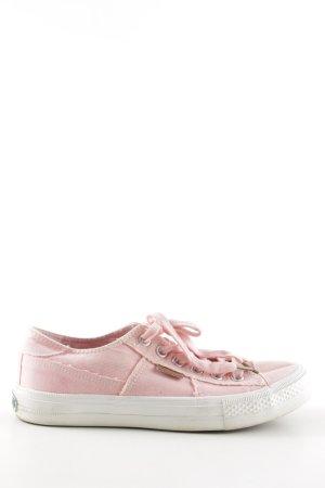 Dockers Schnürsneaker pink-weiß sportlicher Stil
