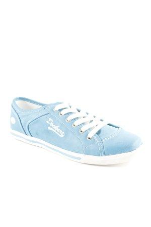 Dockers Schnürsneaker hellblau-weiß Farbverlauf Casual-Look