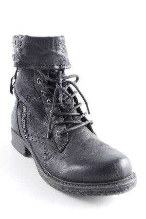Dockers Schnürstiefel schwarz Military-Look