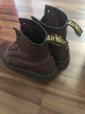 Dockers Combat Boots bordeaux leather