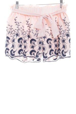 Dodo Handmade Shorts rosa-azul oscuro estampado floral Estilo playero
