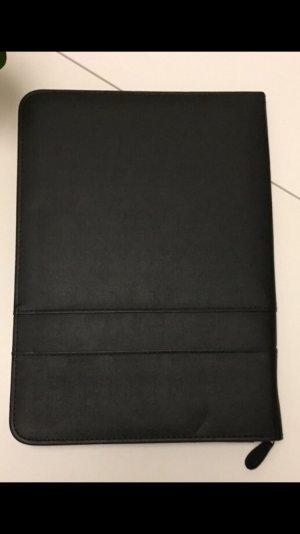 Dokumenten Mappe, lederoptik schwarz, DIN A4
