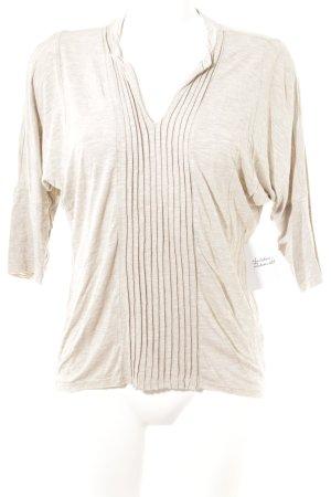 Dolan V-Ausschnitt-Shirt beige meliert Casual-Look