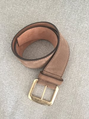 Dolce & Gabbana Leather Belt grey brown