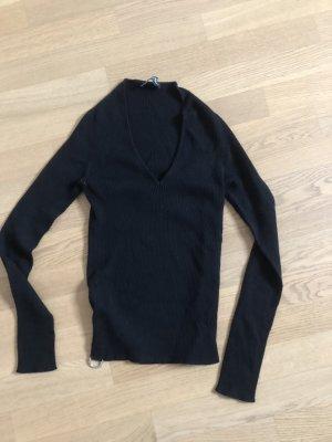 Dolce & Gabbana Pull col en V noir