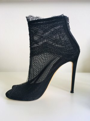 Dolce & Gabbana Peep Toe Booties black