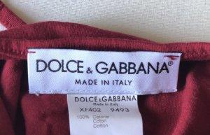 Dolce & Gabbana Halter Top dark red-carmine cotton
