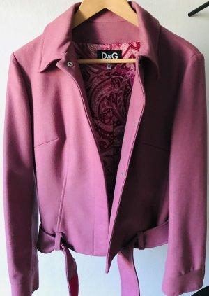 Dolce & Gabbana Blouson rose laine