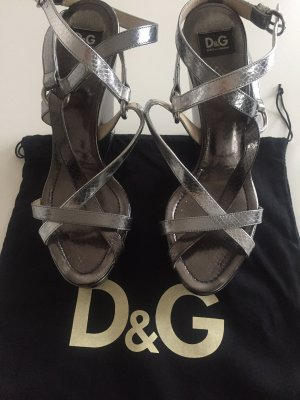 Dolce & Gabbana Strapped Sandals black-silver-colored