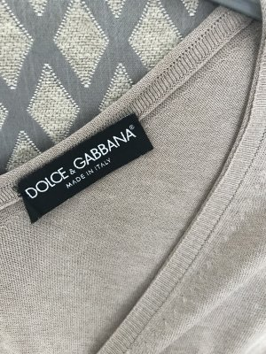 Dolce & Gabbana Torera de punto beige