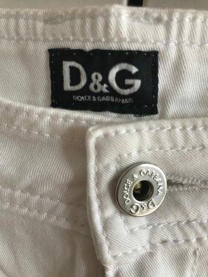 Dolce & Gabbana Pantalone a 3/4 bianco-argento