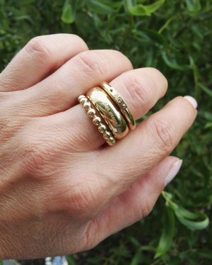 Dolce & Gabbana 3 goldfarbene Ringe