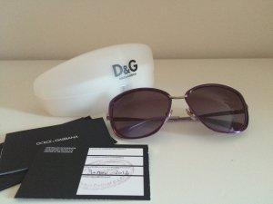 Dolce Gabbana 6077 D&G Sonnenbrille lila NEU Wayfarer Schmetterling
