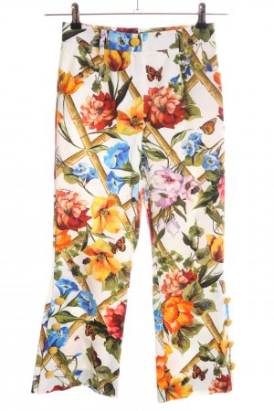 Dolce & Gabbana 7/8 Jeans Blumenmuster Elegant