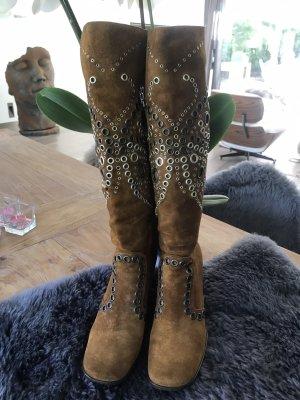 Dolce & Gabbana Heel Boots bronze-colored suede
