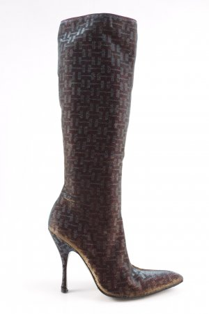 Dolce & Gabbana Heel Boots abstract pattern casual look