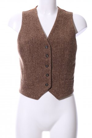 Dolce & Gabbana Waistcoat brown-light orange flower pattern casual look