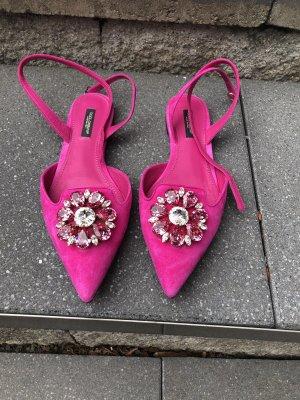 Dolce & Gabbana Zuecos rosa Gamuza