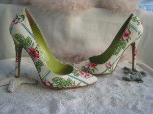 Dolce &  Gabbana´ Bezaubernder Blüten High Heels Stilettos 11,4 cm NP 580 € Top