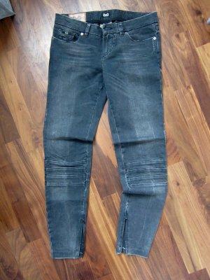 D&G Peg Top Trousers dark grey cotton