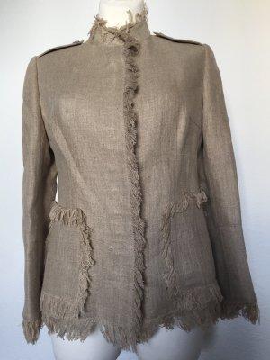 Dolce & Gabbana Blazer largo marrón arena