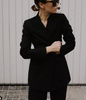 Dolce&Gabbana Blazer Jacke 34 XS Grau Wolle Nadelstreifen Jacket Acne Grey