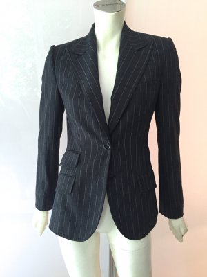 Dolce&Gabbana Blazer Jacke 34 XS Grau Wolle Nadelstreifen Turlington Jacket Grey