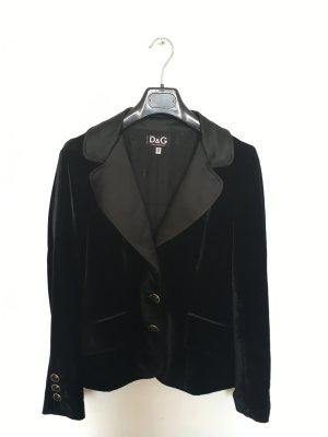 Dolce & Gabbana Blazer Samt schwarz
