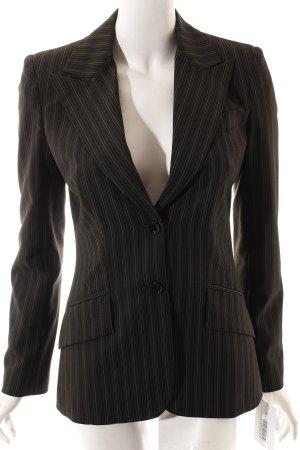 Dolce & Gabbana Blazer schwarzbraun Nadelstreifen Business-Look