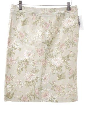 Dolce & Gabbana Bleistiftrock blassgrün-rosé florales Muster Elegant