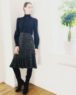 Dolce & Gabbana Blusa collo a cravatta nero