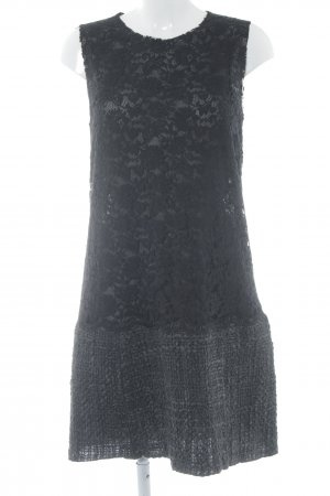 Dolce & Gabbana Blusenkleid schwarz Transparenz-Optik