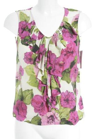 Dolce & Gabbana Blusentop Blumenmuster Volantbesatz