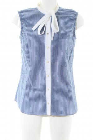 Dolce & Gabbana Blusentop blau-weiß Streifenmuster Casual-Look