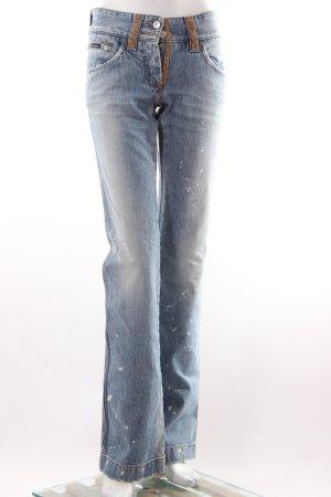 Dolce & Gabbana Boot Cut Jeans mit Glitzersteinen