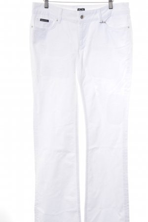 Dolce & Gabbana Boot Cut Jeans weiß Casual-Look