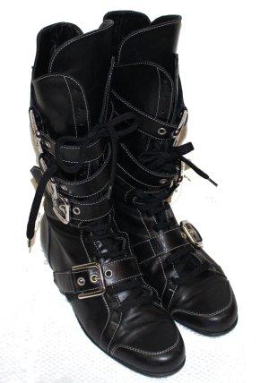 Dolce & Gabbana Boots STIEFEL schwarz Leder Gr. 38