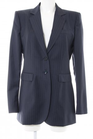 Dolce & Gabbana Blazer boyfriend bleu motif rayé style d'affaires