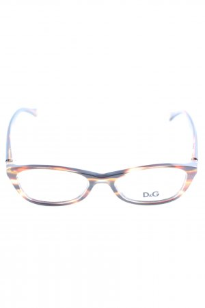 Dolce & Gabbana Bril blauw-licht Oranje abstract patroon casual uitstraling