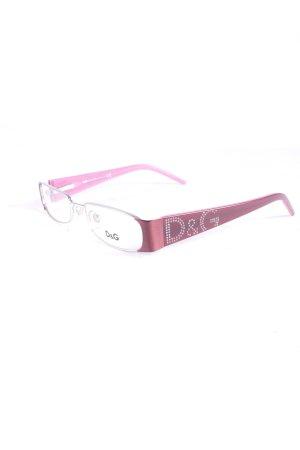 Dolce & Gabbana Brille roségoldfarben-pink Casual-Look