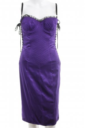 Dolce & Gabbana Vestido bustier lila elegante