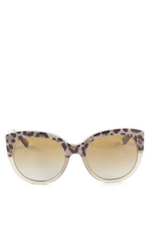 Dolce & Gabbana Butterfly Brille creme-braun Animalmuster Elegant