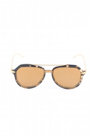 Dolce & Gabbana Butterfly Glasses gold-colored-dark brown color blocking