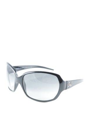 Dolce & Gabbana Butterfly Brille schwarz schlichter Stil