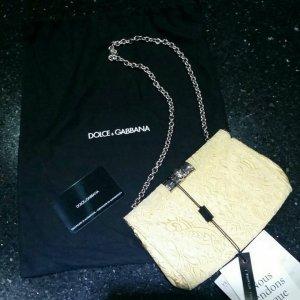 Dolce & Gabbana Clutch Tasche gelb gold