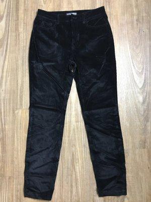 Dolce & Gabbana Pantalón de pana negro Algodón