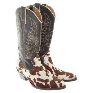 Dolce & Gabbana Cowboy Stiefel Western Boots m Kuhfell Besatz Gr 41